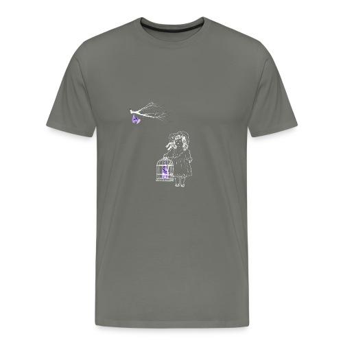 Caged Bat - Men's Premium T-Shirt