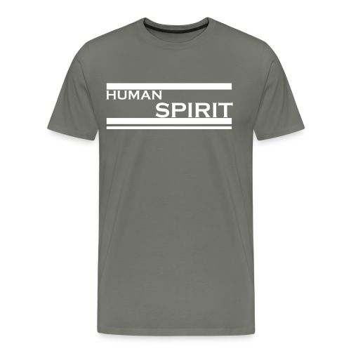 Human Spirit white - Men's Premium T-Shirt