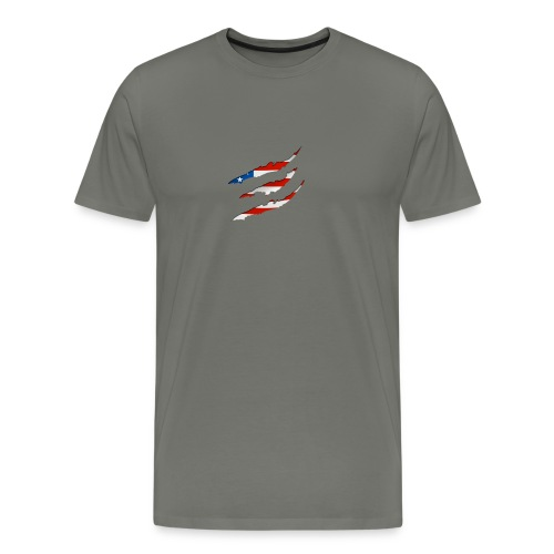 3D American Flag Claw Marks T-shirt for Men - Men's Premium T-Shirt