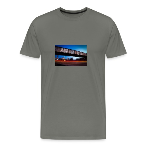 Husttle City Bridge - Men's Premium T-Shirt