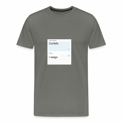Covfefe translated to russian - Men's Premium T-Shirt