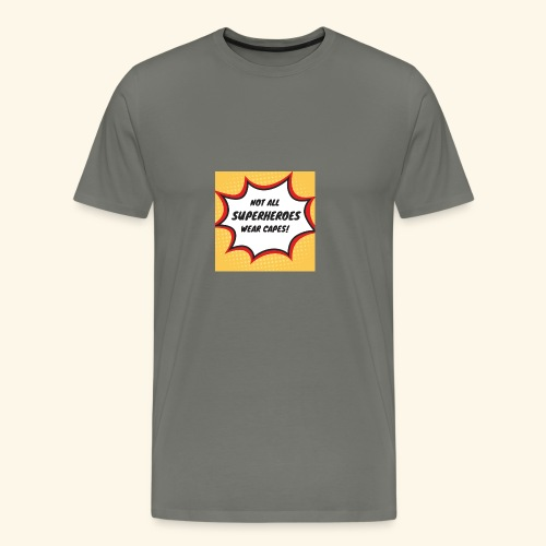 superhero no cape - Men's Premium T-Shirt