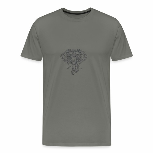 H&F Market elephant design mug pillow - Men's Premium T-Shirt