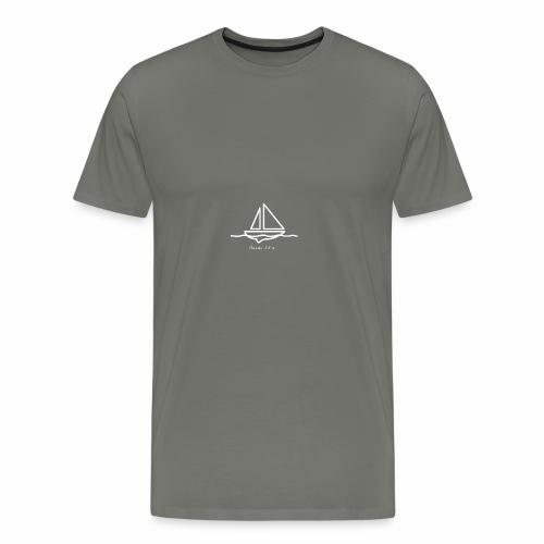 Sailboat logo, Proverbs 3:5-6 white 1 - Men's Premium T-Shirt