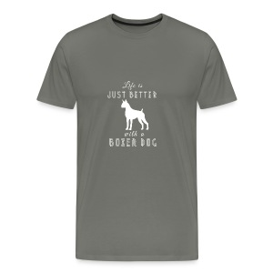 Life Is Just Better With A Dog - Men's Premium T-Shirt