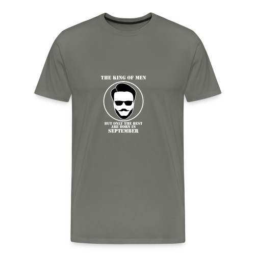 King Of Men Born In September - Men's Premium T-Shirt