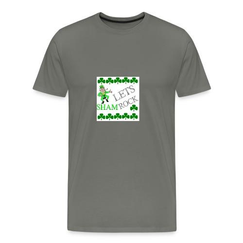 LEPRECHAUN LETS rock - Men's Premium T-Shirt