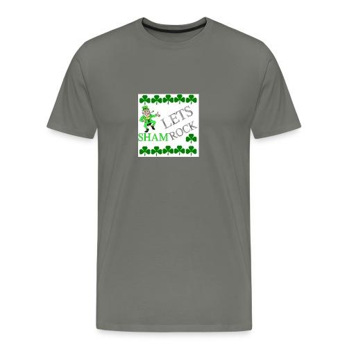 LEPRECHAUN LETS rock - Men's Premium T-Shirt