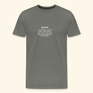 MS Broken Grey Text - Men's Premium T-Shirt