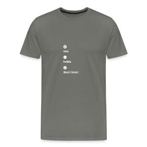 Home - Portfolio - About & Contact 2 - Men's Premium T-Shirt