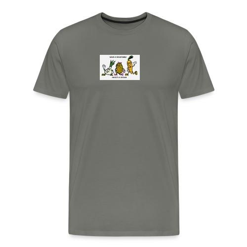 SAVE A VEGETABLE SHOOT A VEGAN - Men's Premium T-Shirt