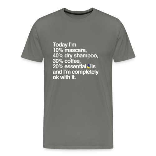 MascaraCoffeeOilsWhiteSpr - Men's Premium T-Shirt