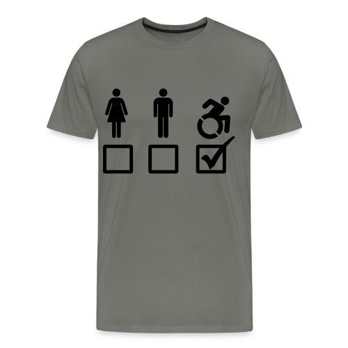 A wheelchair user is also suitable - Men's Premium T-Shirt