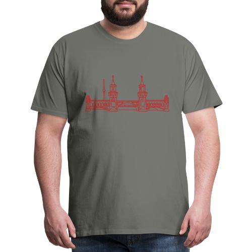 Oberbaum Bridge in Berlin - Men's Premium T-Shirt