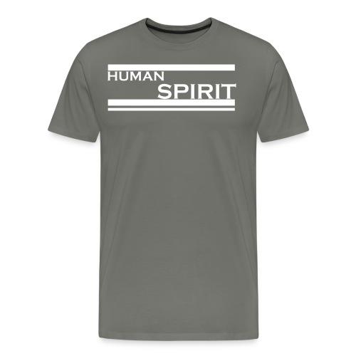 Human Spirit white - Men's Premium T-Shirt