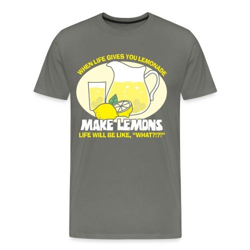 Make Lemons (White) - Men's Premium T-Shirt