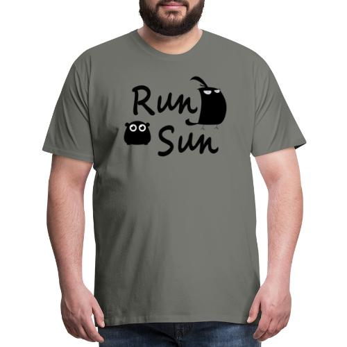 Run Sun Logo - Men's Premium T-Shirt