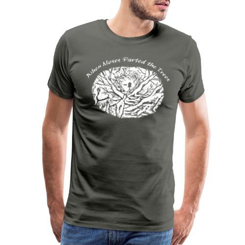 Moses White for Dark Shirts Disc Golf - Men's Premium T-Shirt