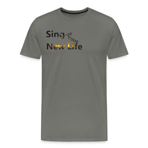 Sing in Brown - Men's Premium T-Shirt