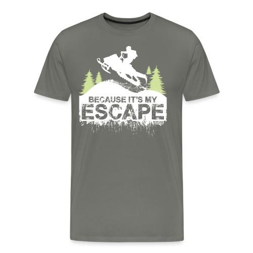 Snowmobile Because Escape - Men's Premium T-Shirt