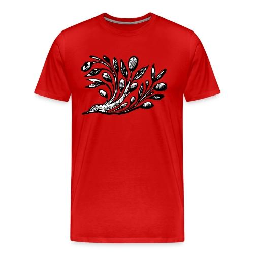 Decorative Bough - Branch Motif - Men's Premium T-Shirt