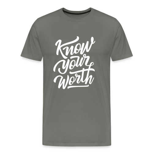Know Your Worth - Men's Premium T-Shirt
