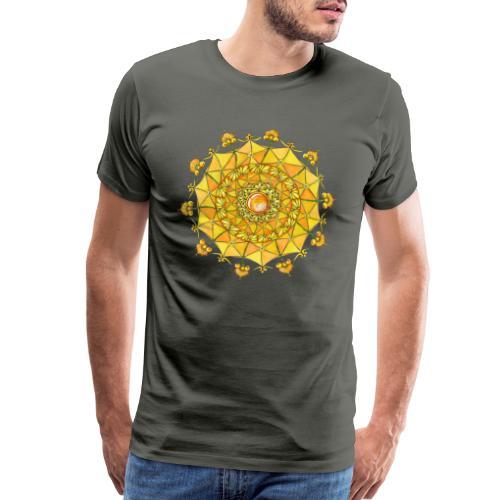 Zentangle Mandala Navel Manipura Chakra - Men's Premium T-Shirt
