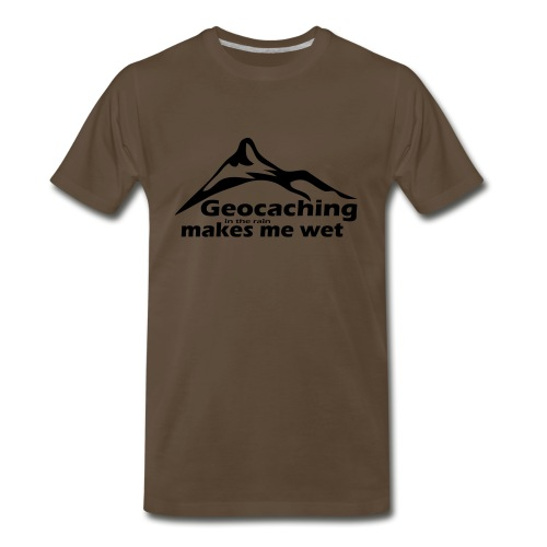Wet Geocaching - Men's Premium T-Shirt