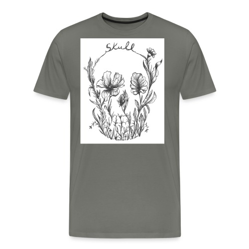 botanical skull - Men's Premium T-Shirt
