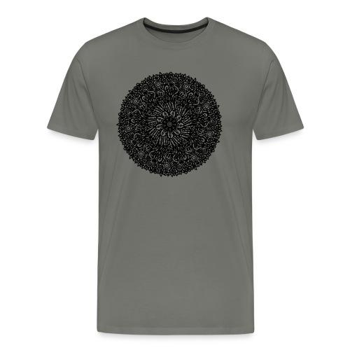 Organic Macrocosm Mandala - Black Ink - Men's Premium T-Shirt