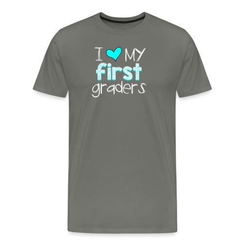 love my 1st graders png - Men's Premium T-Shirt