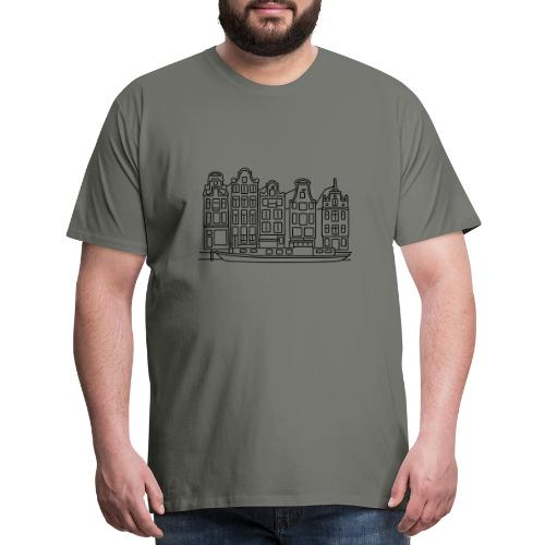 Amsterdam Canal houses - Men's Premium T-Shirt