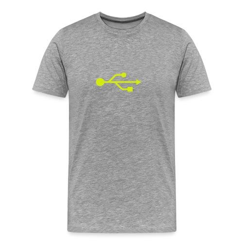 Yellow USB Logo Mid - Men's Premium T-Shirt