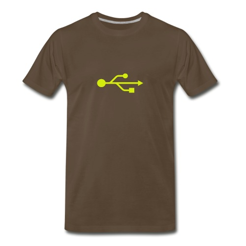 Yellow USB Logo Mid - Men's Premium T-Shirt