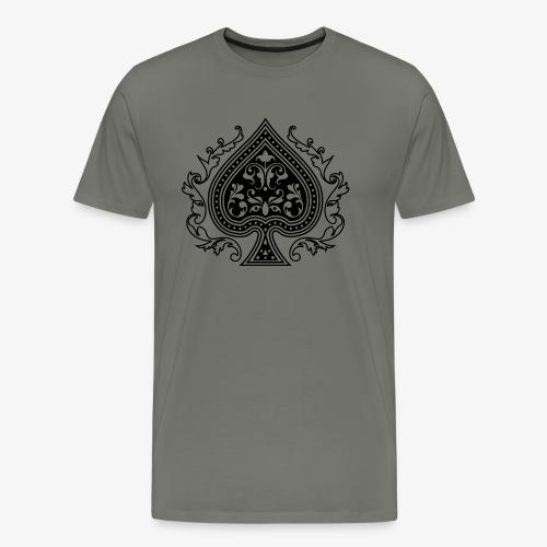 Ace Spade 02 Black - Men's Premium T-Shirt