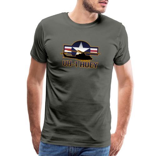 UH-1 Huey Helicopter - Men's Premium T-Shirt