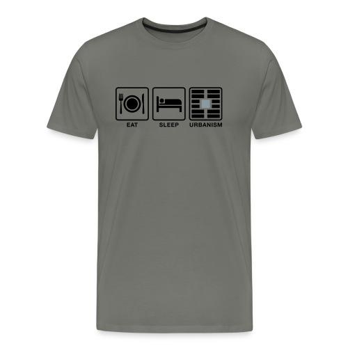 Eat Sleep Urb big fork-LG - Men's Premium T-Shirt