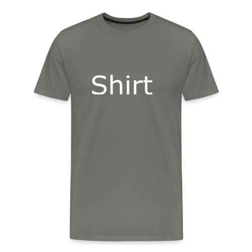Shirt Shirt Black - Men's Premium T-Shirt