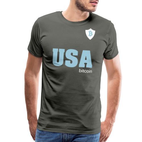 USA Bitcoin - Men's Premium T-Shirt