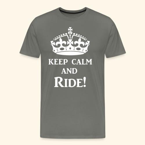 keep calm ride wht - Men's Premium T-Shirt