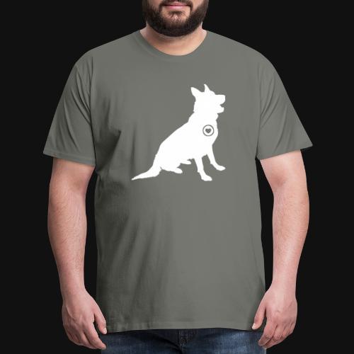 German Shepherd love - Men's Premium T-Shirt