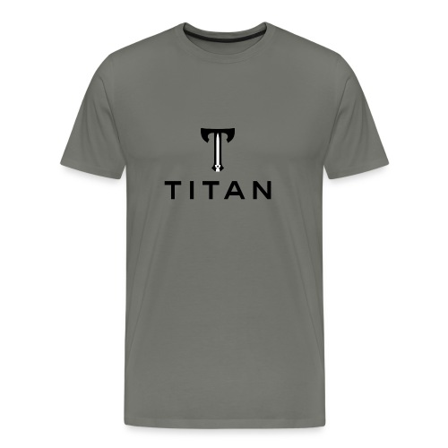 Stacked Titan Logo - Men's Premium T-Shirt