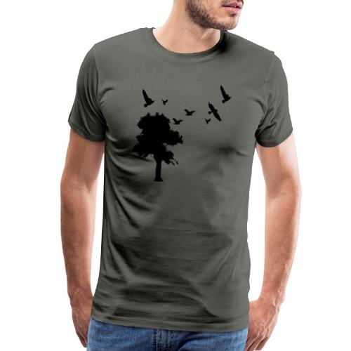 BIG trees & birds - Men's Premium T-Shirt