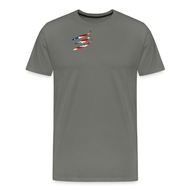3D American Flag Claw Marks T-shirt for Men
