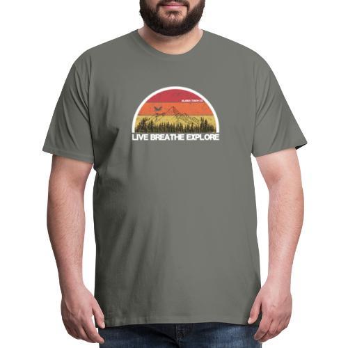 Live Breathe Explore Mountain - Men's Premium T-Shirt