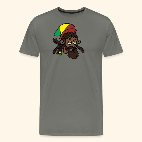 Rasta Ricky Head Logo - Men's Premium T-Shirt