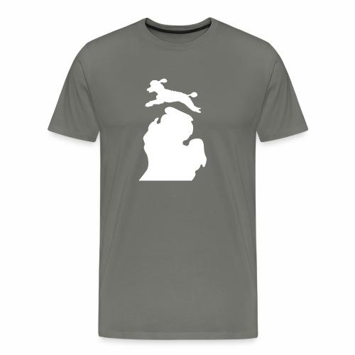 Bark Michigan poodle - Men's Premium T-Shirt