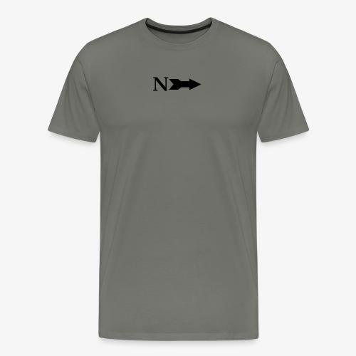 Narrow Logo Black - Men's Premium T-Shirt