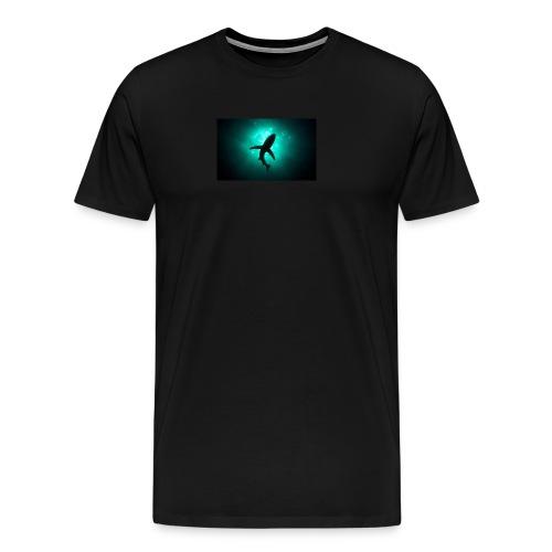 Shark in the abbis - Men's Premium T-Shirt