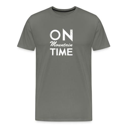 On Mountain Time - Men's Premium T-Shirt